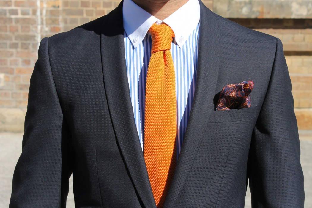 Krawat Knit - wykonany z dzianiny